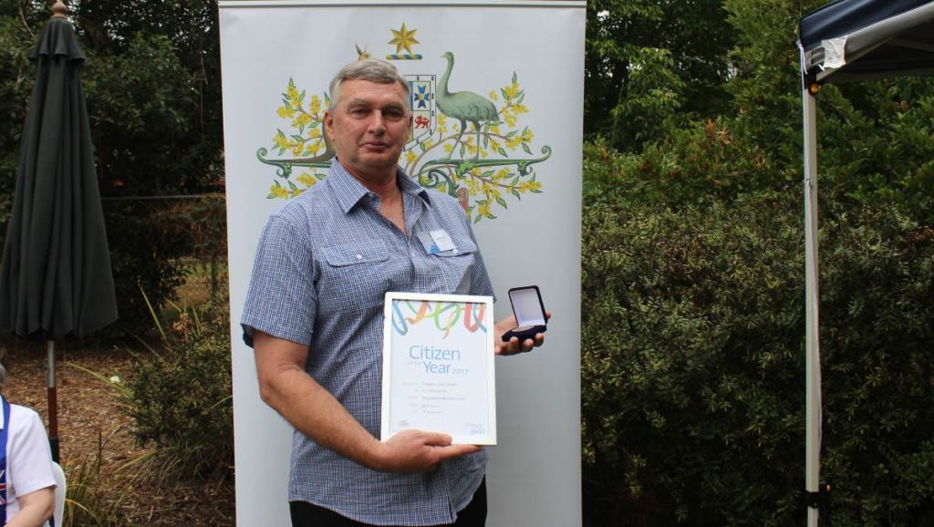 Wollondilly Citizen of the Year Greg Green. Picture: Ashleigh Tullis