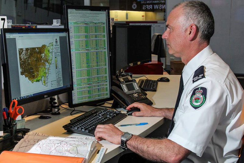 PHOTO: Digital modelling tools to predict fire spreads were only developed two years ago. (ABC Radio Sydney: Luke Wong)