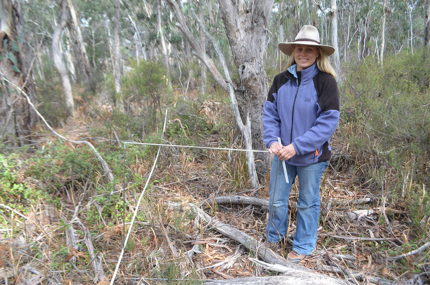 Michelle undertaking ecological monitoring