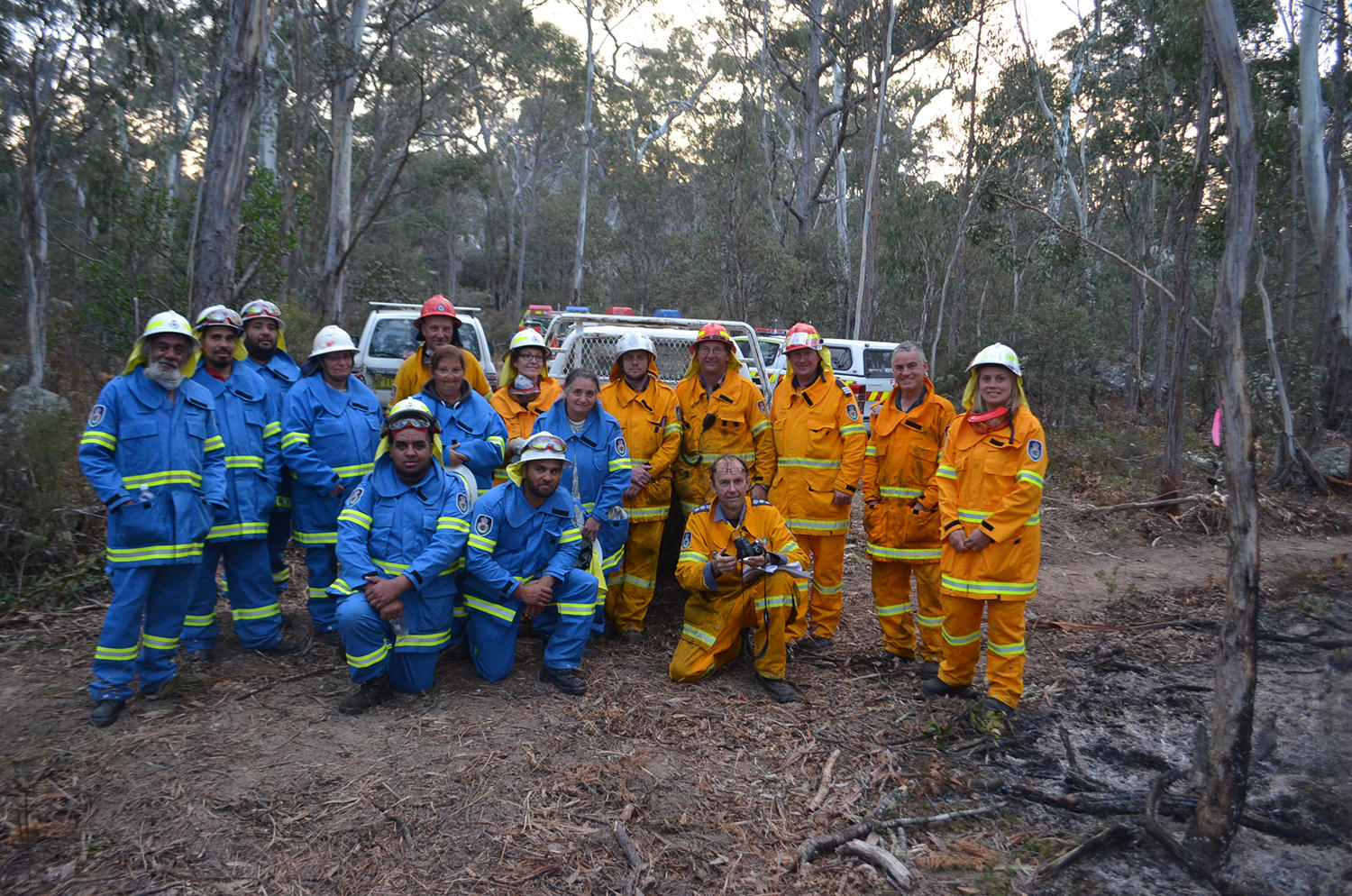 Guyra Rural Fire Brigade pictured with Bambai Indigenous Rangers