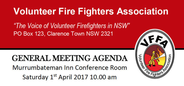 VFFA General Meeting – Murrumbateman Inn – Sat 1st April 2017