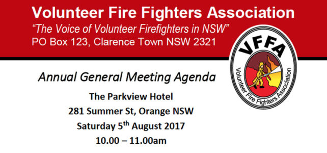 VFFA AGM and Ordinary Meeting – Sat 5th August 2017