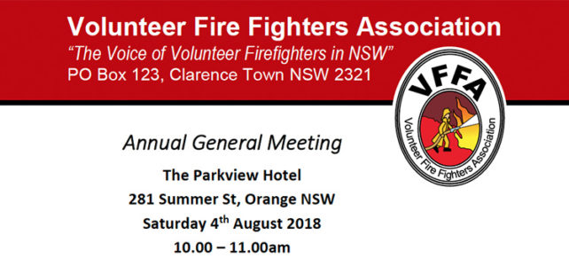 VFFA AGM and Ordinary Meeting – Sat 4th August 2018