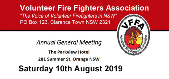 VFFA AGM and Ordinary Meeting – Sat 10th August 2019