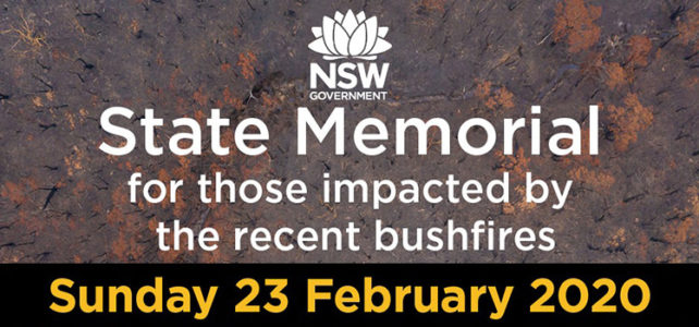 NSW Bushfires – State Memorial