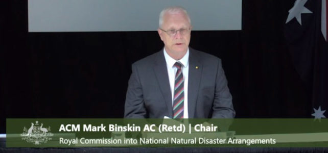 Bushfire Royal Commission Up and Running