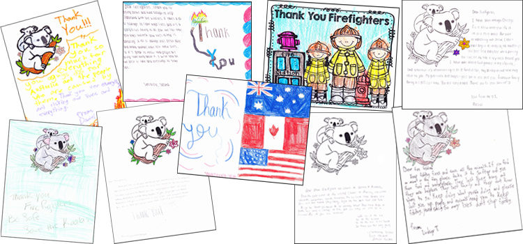 Thank you cards and letters from Scouts in the US