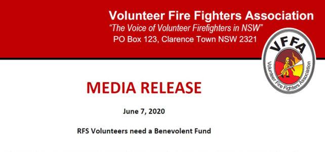 RFS Volunteers need a Benevolent Fund