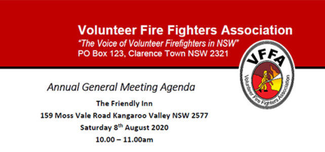 VFFA AGM and Ordinary Meeting – 8th Aug 2020